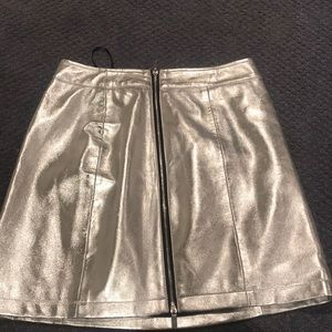 French connection Silver mini skirt